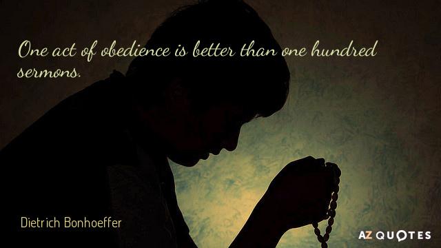Bonhoeffer Quotes Gorgeous Dietrich Bonhoeffer Quotes About Obedience AZ Quotes