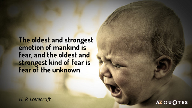 H. P. Lovecraft quote: The oldest and strongest emotion of mankind is fear, and the oldest...