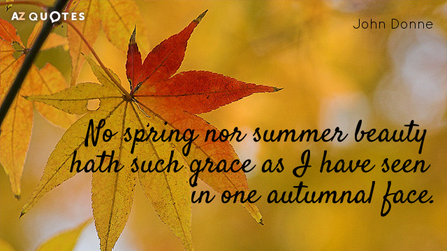 John Donne quote: No spring nor summer beauty hath such grace as I have seen in...