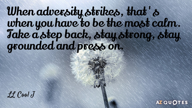 LL Cool J quote: When adversity strikes, that's when you have to be the most calm...