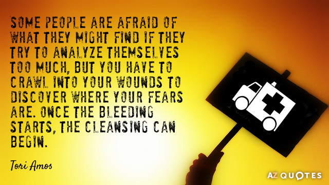 Tori Amos quote: Some people are afraid of what they might find if they try to...