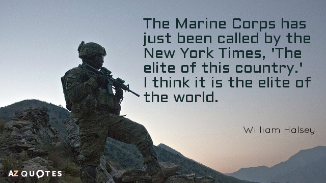 Eleanor Roosevelt Quote About Marines Fair Top 25 Marine Corps Quotes Of 207  Az Quotes
