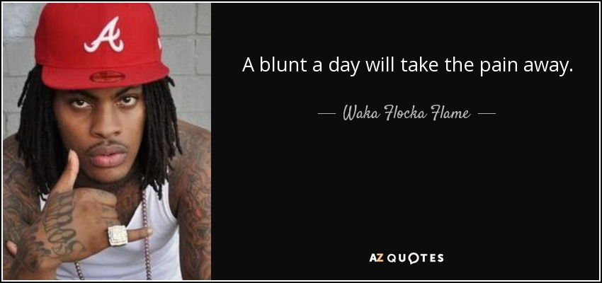 Waka Flocka Flame Quote A Blunt A Day Will Take The Pain Away
