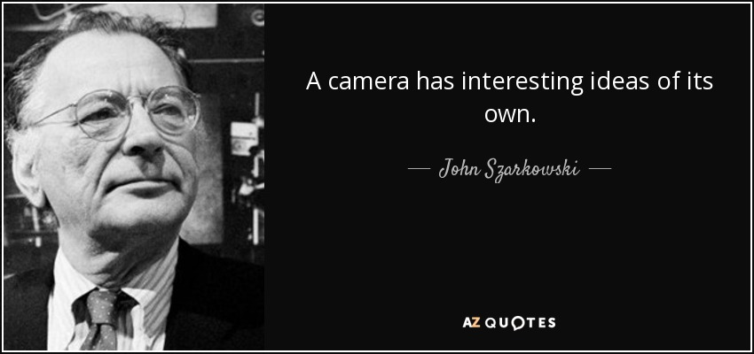 A camera has interesting ideas of its own. - John Szarkowski