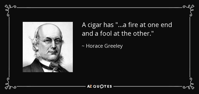A cigar has