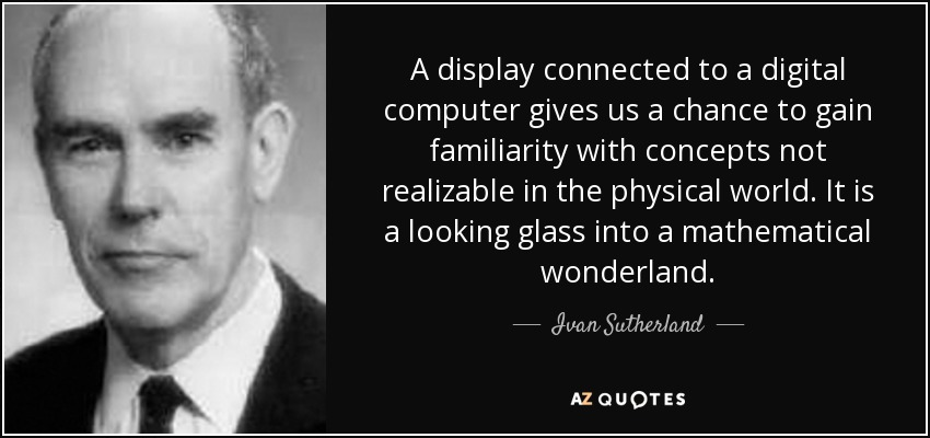 Ivan Sutherland Quote A Display Connected To A Digital Computer