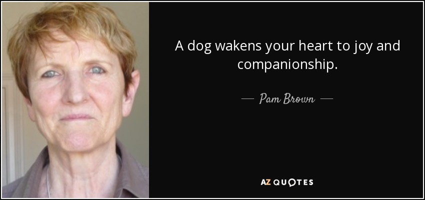 A dog wakens your heart to joy and companionship. - Pam Brown