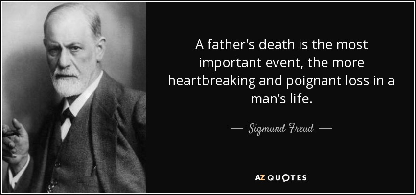 Sigmund Freud quote A father's death is the most important event Extraordinary Father Death Quotes
