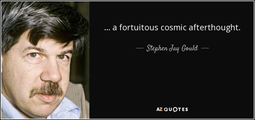 ... a fortuitous cosmic afterthought. - Stephen Jay Gould