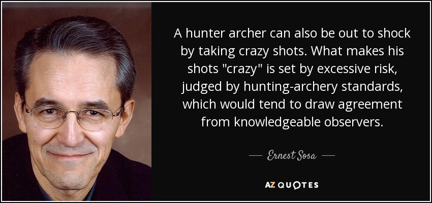 A hunter archer can also be out to shock by taking crazy shots. What makes his shots