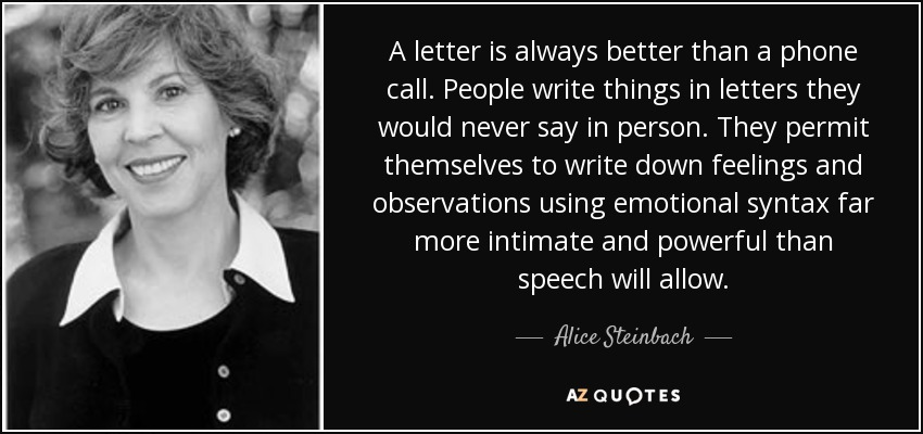 letters to alice quotes Flashcards of quotes and analysis for remembering in hsc exam learn with flashcards, games, and more — for free.
