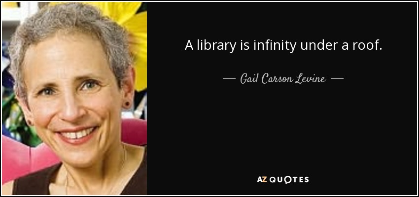 A library is infinity under a roof. - Gail Carson Levine
