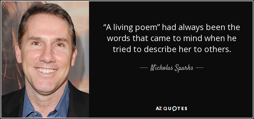 A living poem