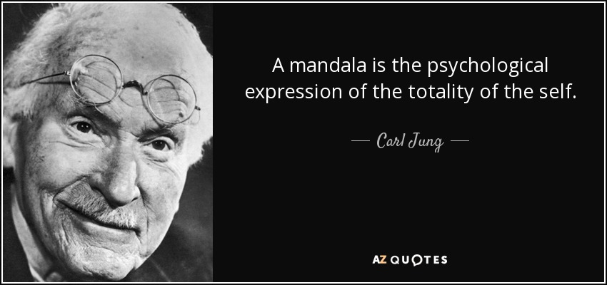 A mandala is the psychological expression of the totality of the self. - Carl Jung