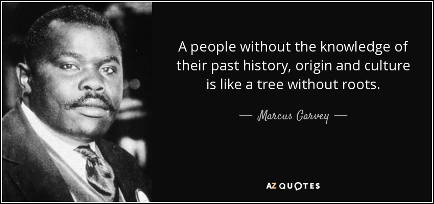A people without the knowledge of their past history, origin and culture is like a tree without roots. - Marcus Garvey