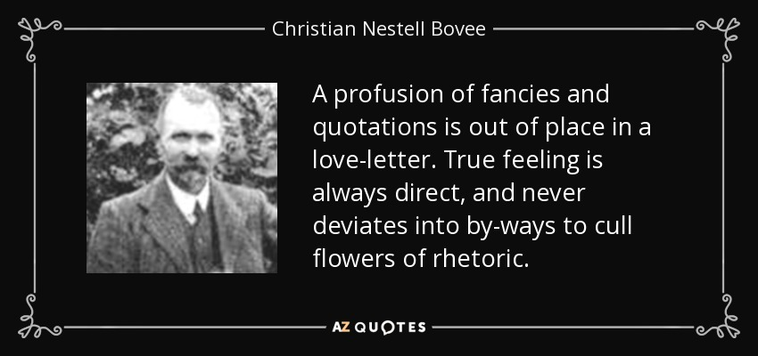 Christian Nestell Bovee Quote: A Profusion Of Fancies And