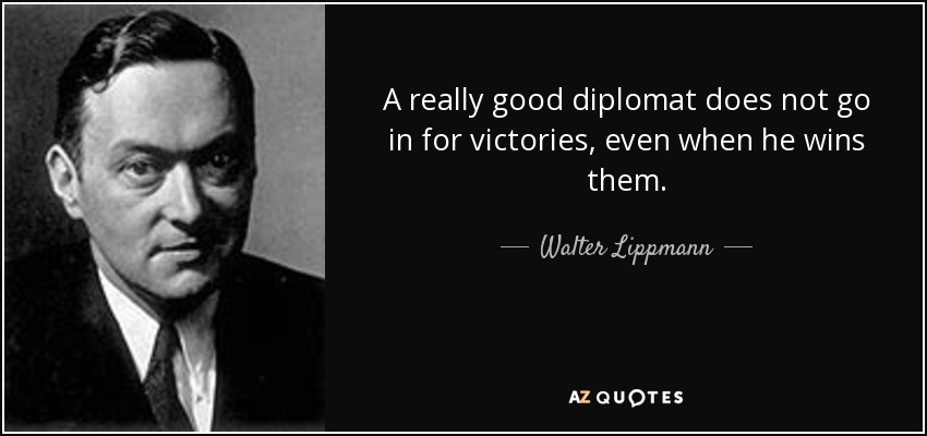 How To Be A Good Diplomat