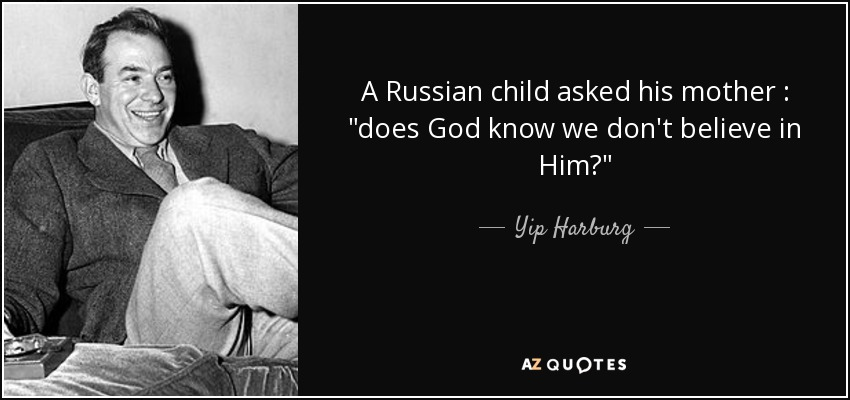 A Russian child asked his mother :
