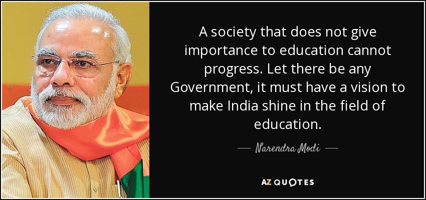 information on importance of education Education is not all about studying and getting good marks it is really a means to discover new things which we don't know about and increase.