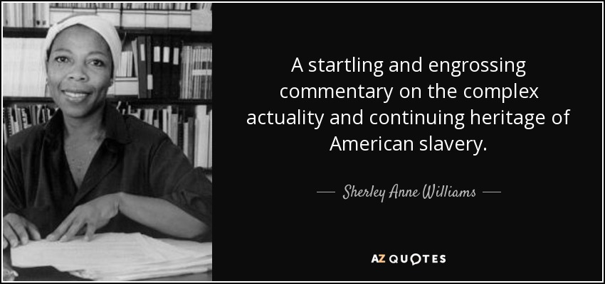 A startling and engrossing commentary on the complex actuality and continuing heritage of American slavery. - Sherley Anne Williams