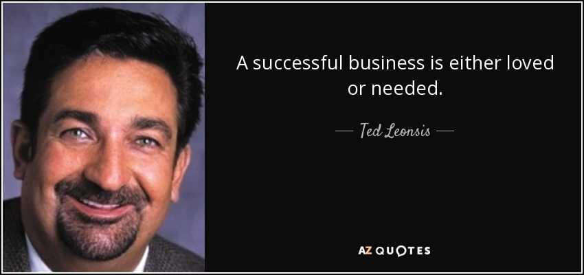 A successful business is either loved or needed. - Ted Leonsis