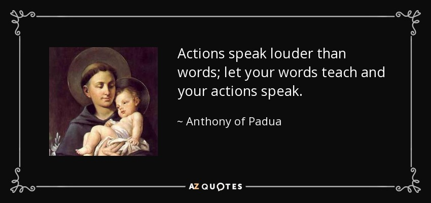 Actions speak louder than words dating quotes