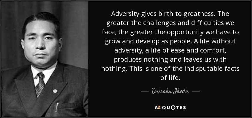 how we face adversity Learning to grow through adversities james 1: 1-12   if we will submit ourselves to god during times of adversity we will discover something about our god and.
