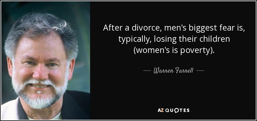 Men after divorce