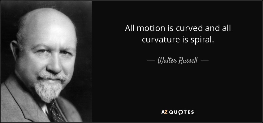 All motion is curved and all curvature is spiral. - Walter Russell