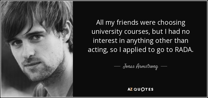 top 8 quotes by jonas armstrong a z quotes. Black Bedroom Furniture Sets. Home Design Ideas