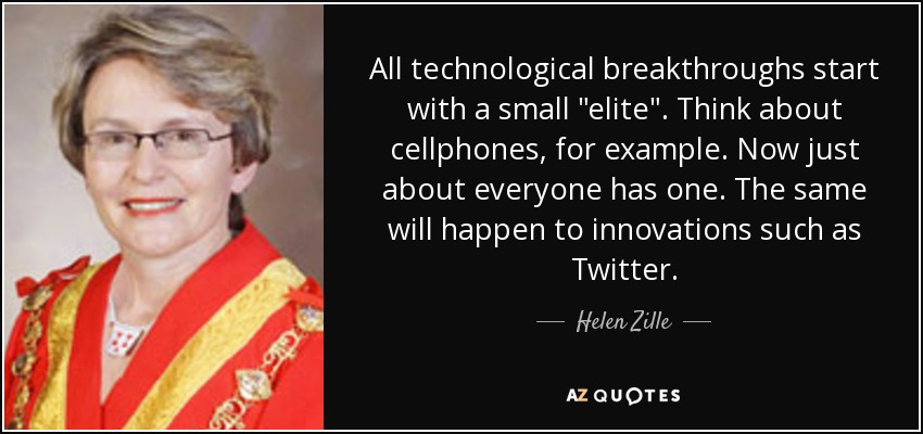 All technological breakthroughs start with a small