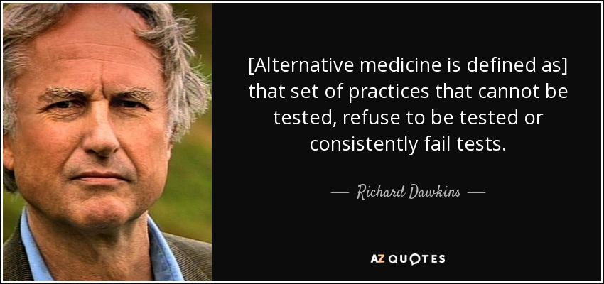 """the description of the practice of holistic medicine Complementary medicine alternative medicine if a non-mainstream practice is used in place of conventional medicine, it's considered """"alternative."""