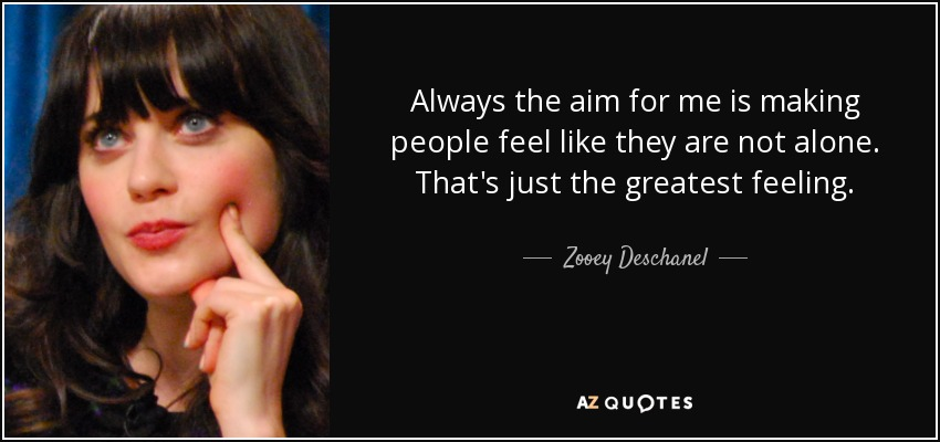 TOP 25 QUOTES BY ZOOEY DESCHANEL (of 257)