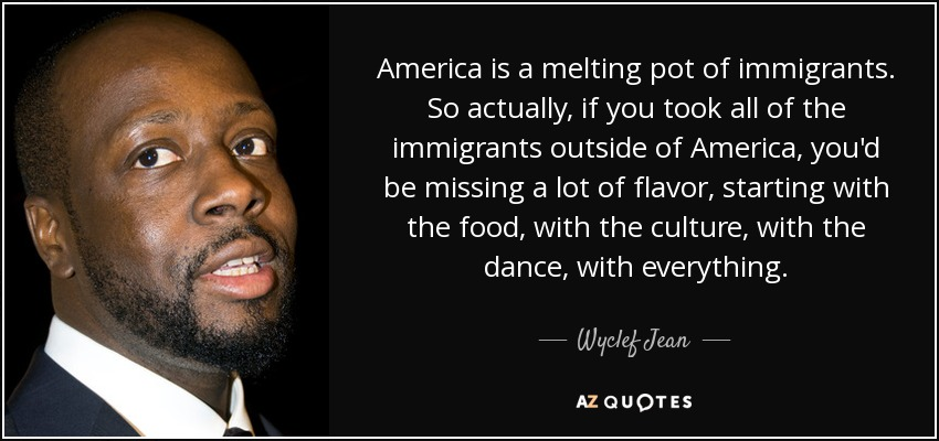 america the melting pot The american kitchen is a melting pot not only in that it gathers in a large diversity of people and cultures, it is also a melting pot in that sense that it gathers in food from across the entire globe.
