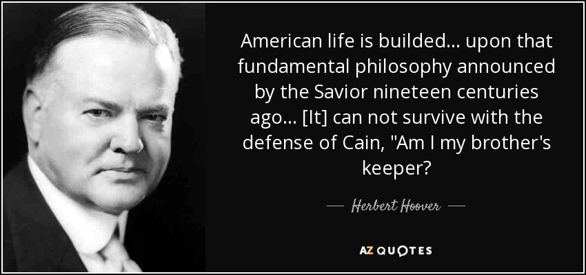 American life is builded ... upon that fundamental philosophy announced by the Savior nineteen centuries ago ... [It] can not survive with the defense of Cain,