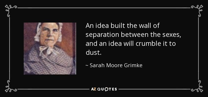 an analysis of the poems by sarah moore grimke