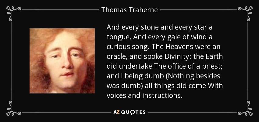 Thomas Traherne tom denny