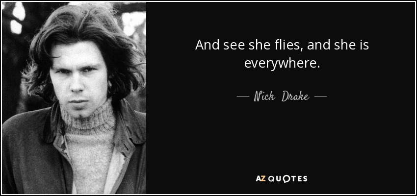And see she flies, and she is everywhere. - Nick  Drake