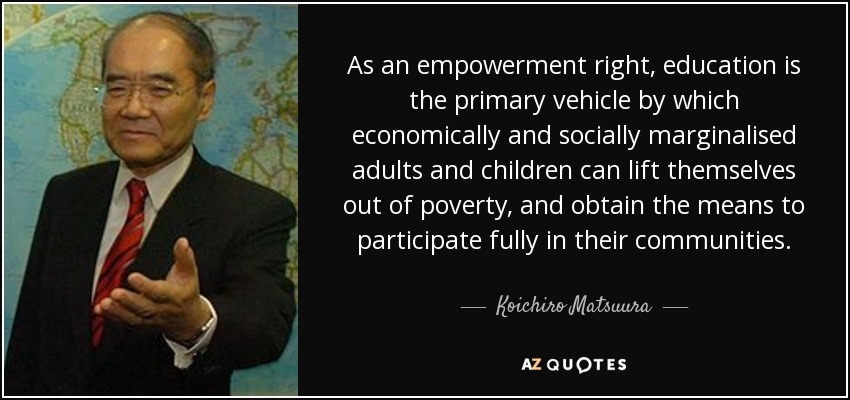 education means of empowerment Much of our work is concerned with empowerment and we have explained below what we mean by this term in essence, empowerment is about having basic education in.