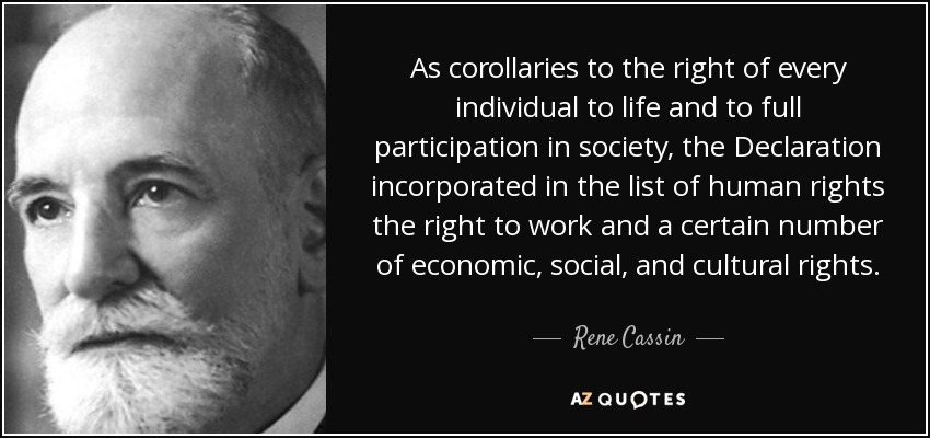 Top 7 Quotes By Rene Cassin A Z Quotes