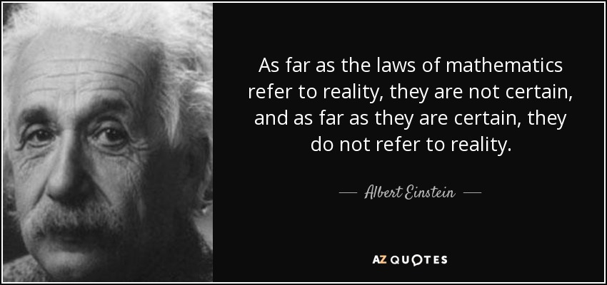 Image result for einstein math reality