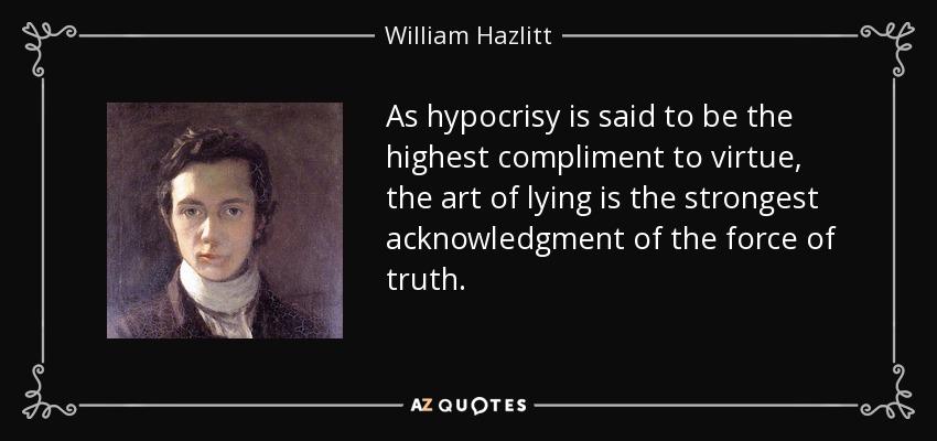 hypocrisy creates the deception of selfish