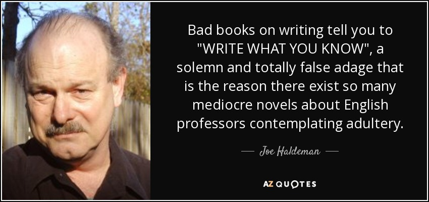 Bad books on writing tell you to