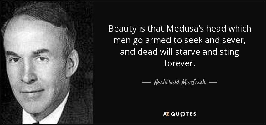 Archibald MacLeish beauty