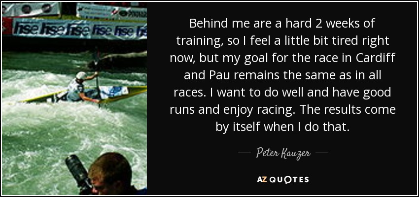 Behind me are a hard 2 weeks of training, so I feel a little bit tired right now, but my goal for the race in Cardiff and Pau remains the same as in all races. I want to do well and have good runs and enjoy racing. The results come by itself when I do that. - Peter Kauzer