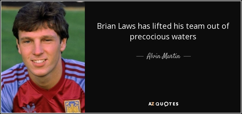 Brian Laws has lifted his team out of precocious waters - Alvin Martin