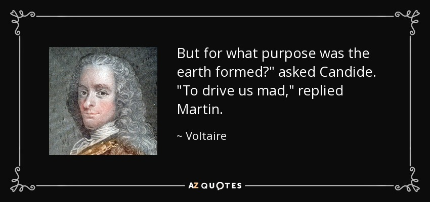 But for what purpose was the earth formed?