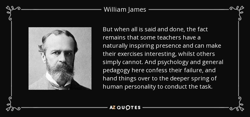 William James Quote But When All Is Said And Done The Fact Remains