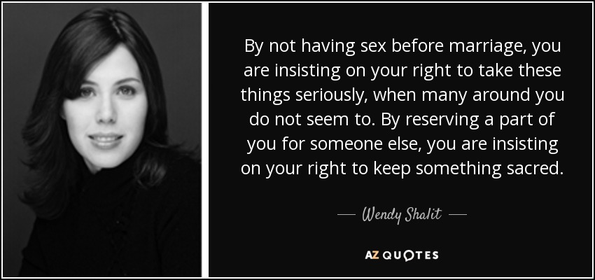 Is sex before marriage right