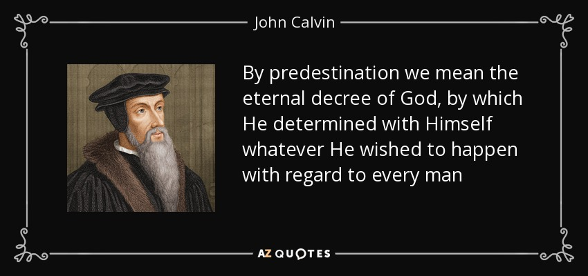 freedom vs predestination The argument from foreknowledge is an argument that divine omniscience, or more specifically divine foreknowledge, is inconsistent with human freedomthe argument begins with a consideration of the consequences of god knowing everything.